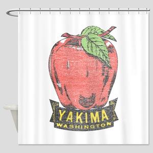 Vintage Yakima Apple Shower Curtain