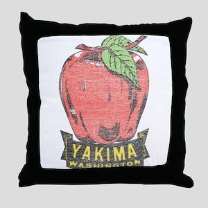 Vintage Yakima Apple Throw Pillow