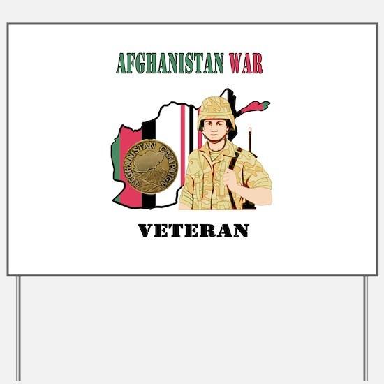 Afghanistan War Veteran Yard Sign