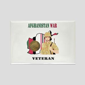 Afghanistan War Veteran Rectangle Magnet