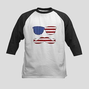 Patriotic Funny Face Baseball Jersey