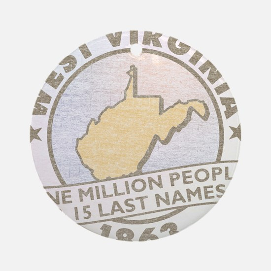 Faded West Virginia Ornament (Round)