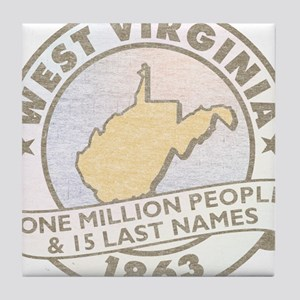Faded West Virginia Tile Coaster