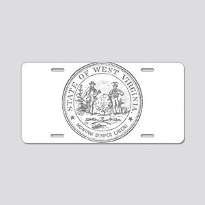 Vintage West Virginia Seal Aluminum License Plate