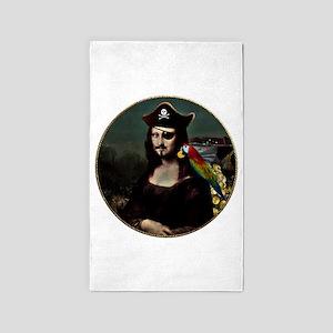 Mona Lisa Pirate Captain 3'x5' Area Rug