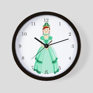 Green Princess Wall Clock