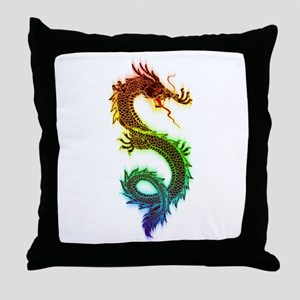 Colorful Serpent Throw Pillow
