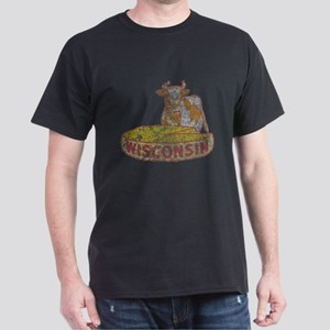 Faded Vintage Wisconsin Cheese Dark T-Shirt