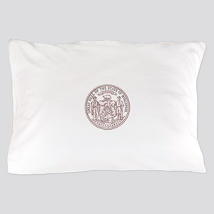 Vintage Wisconsin State Seal Pillow Case