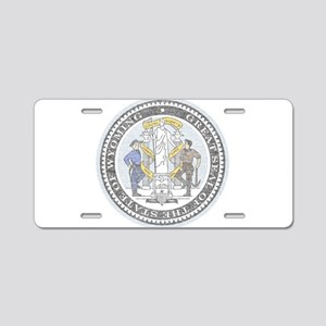 Vintage Wyoming Seal Aluminum License Plate
