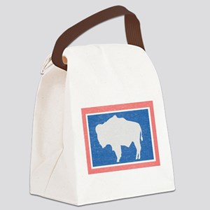 Wyoming State Flag Canvas Lunch Bag