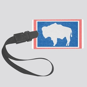 Wyoming State Flag Luggage Tag