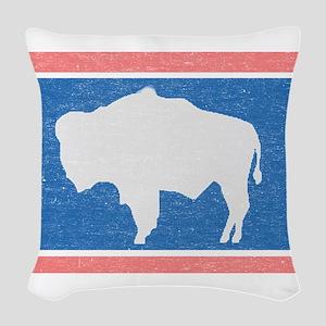 Wyoming State Flag Woven Throw Pillow