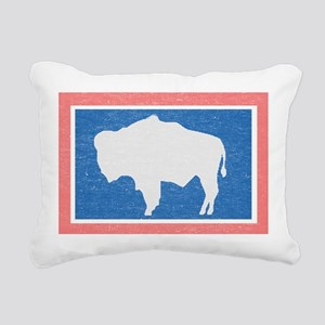 Wyoming State Flag Rectangular Canvas Pillow