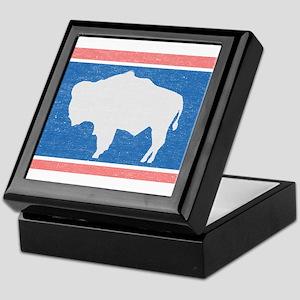 Wyoming State Flag Keepsake Box