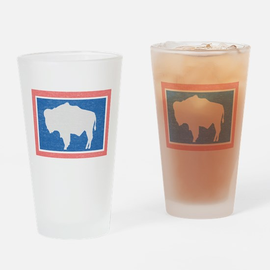 Wyoming State Flag Drinking Glass