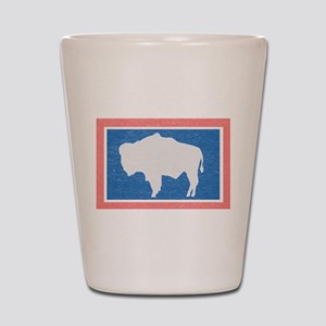 Wyoming State Flag Shot Glass