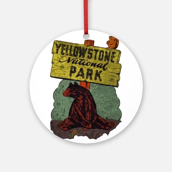 Vintage Yellowstone Ornament (Round)