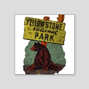 Vintage Yellowstone Sticker