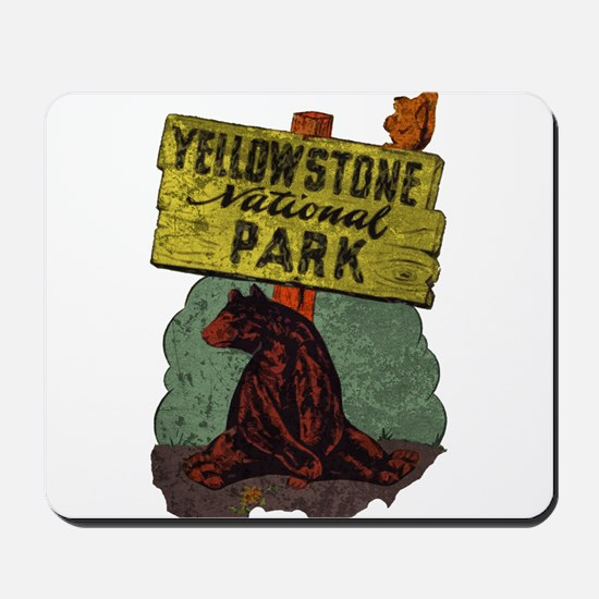 Vintage Yellowstone Mousepad