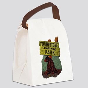 Vintage Yellowstone Canvas Lunch Bag