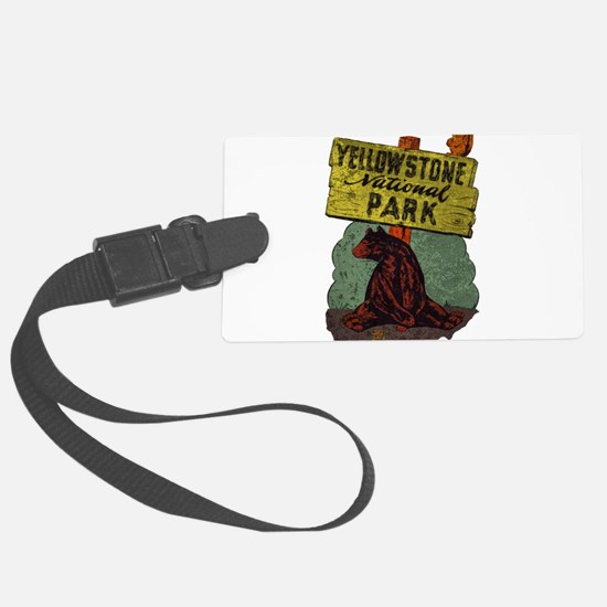 Vintage Yellowstone Luggage Tag