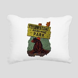 Vintage Yellowstone Rectangular Canvas Pillow