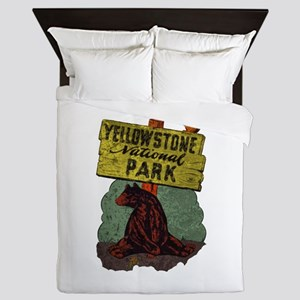 Vintage Yellowstone Queen Duvet