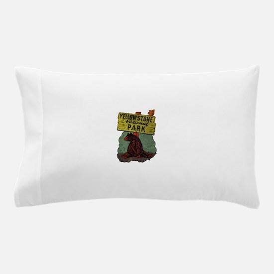 Vintage Yellowstone Pillow Case