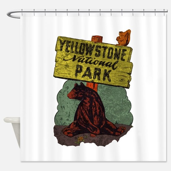 Vintage Yellowstone Shower Curtain