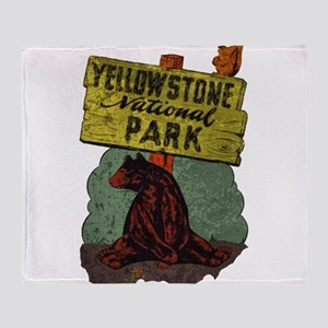 Vintage Yellowstone Throw Blanket