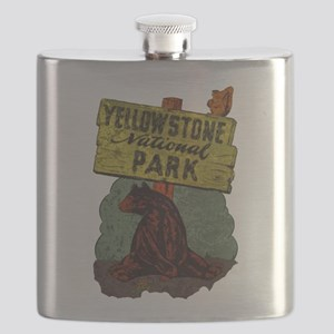Vintage Yellowstone Flask