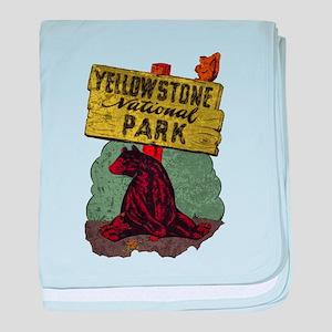 Vintage Yellowstone baby blanket