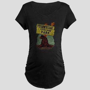 Vintage Yellowstone Maternity T-Shirt