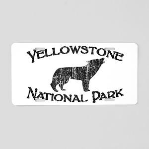 Yellowstone Wolf Aluminum License Plate