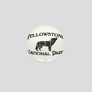Yellowstone Wolf Mini Button