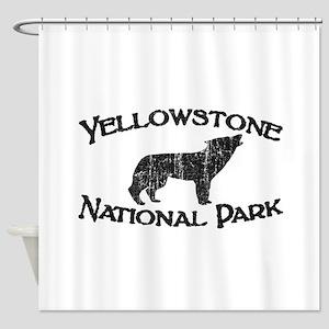 Yellowstone Wolf Shower Curtain