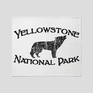 Yellowstone Wolf Throw Blanket