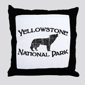 Yellowstone Wolf Throw Pillow