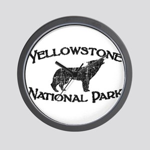 Yellowstone Wolf Wall Clock