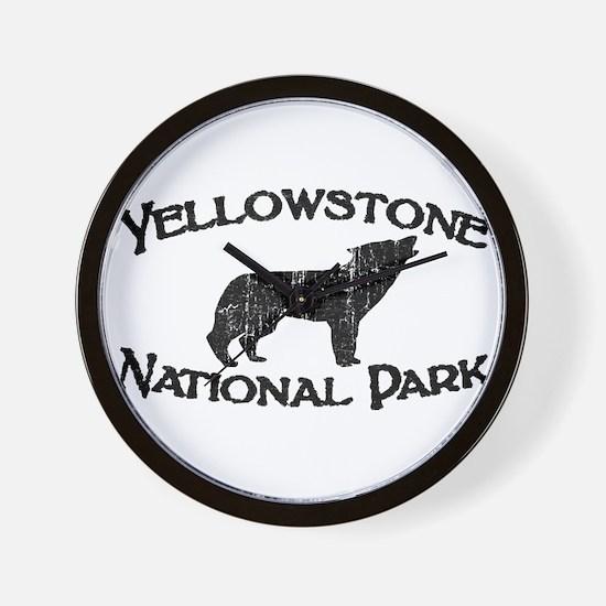 Yellowstone Wolf Wall Clock