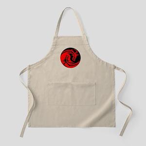 Red And Black Yin Yang Dragons Apron