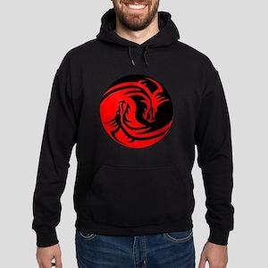 Red And Black Yin Yang Dragons Hoody