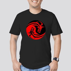 Red And Black Yin Yang Dragons T-Shirt