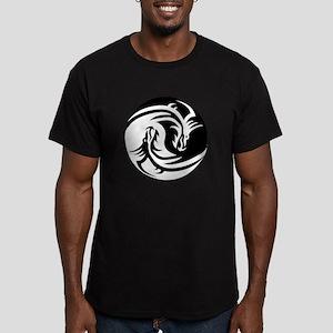 Black And White Yin Yang Dragons T-Shirt
