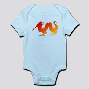 Red and Orange Dragon Body Suit