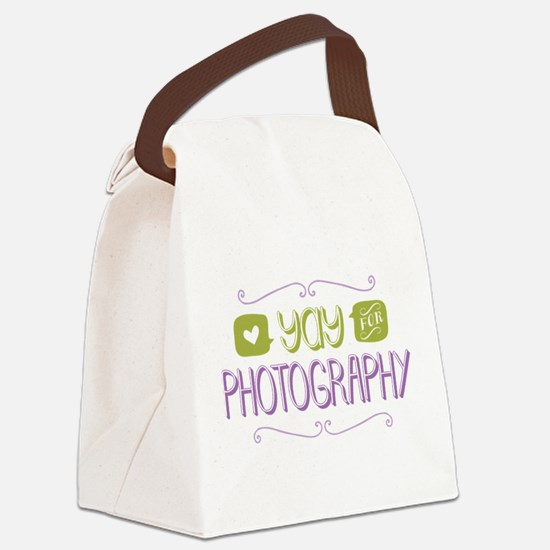 Yay for Photography Canvas Lunch Bag