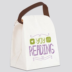 Yay for Reading Canvas Lunch Bag