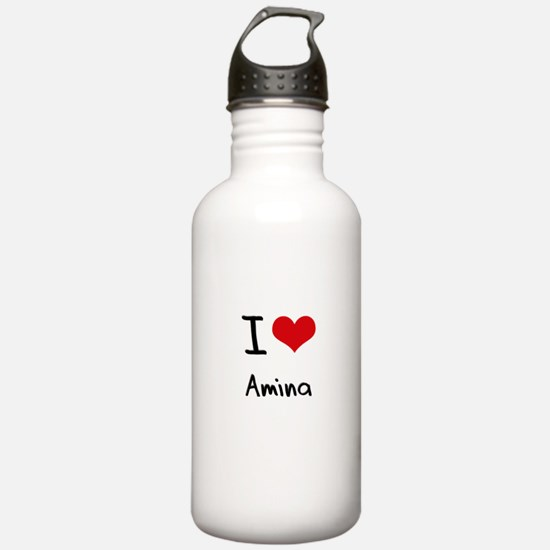 I Love Amina Water Bottle