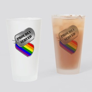 Proudly Served Drinking Glass